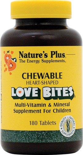 Nature's Plus Love Bites® Children's Chewable Multi-Vitamin and Mineral -- 180 Tablets - 3PC - Chewable Love Bites
