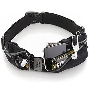 Sport2People Running Belt – iPhone X 6 7 8 Plus Pouch for Runners . Best Fitness Gear for Hands-Free Workout . Freerunning Reflective Waist Pack Phone Holder . Men, Women, Kids Running Accessories