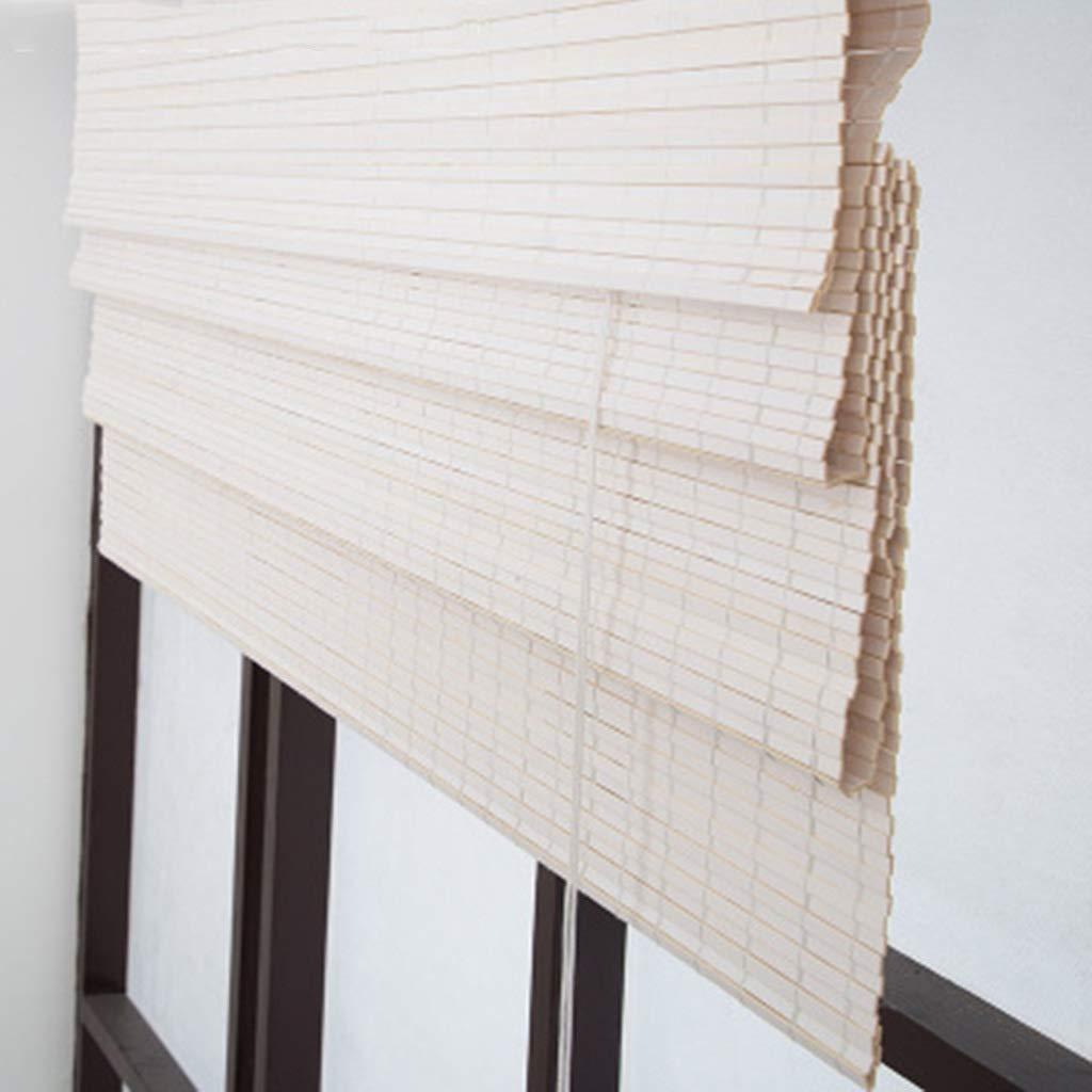 130×100cm Estores enrollables Cortinas de ventana romanas blancoas, persianas enrollables de bambú del cuarto de baño del dormitorio del patio, 80cm   100cm   120cm   130cm   140cm ancho ( Tamaño   130×100cm )