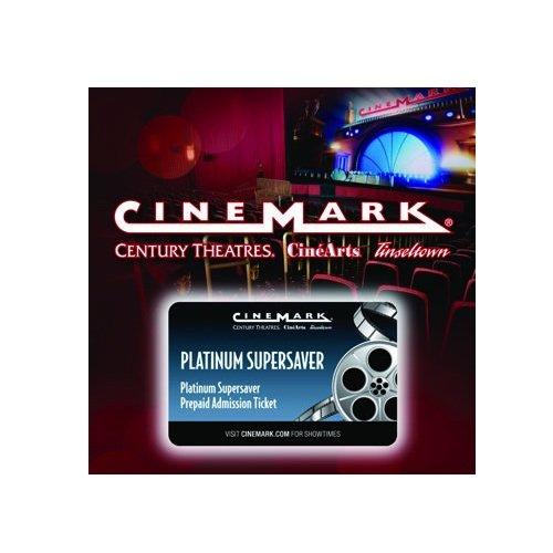 10 Cinemark Theatres Platinum Supersaver Movie Tickets