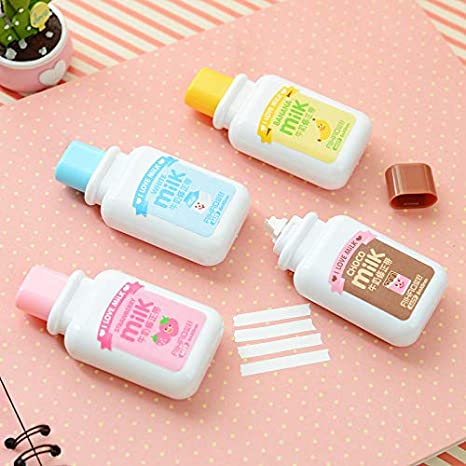 5934fdcd3ad5 Amazon.com : 2 Pcs Cute Kawaii Milk Style Correction Tape for Kids ...