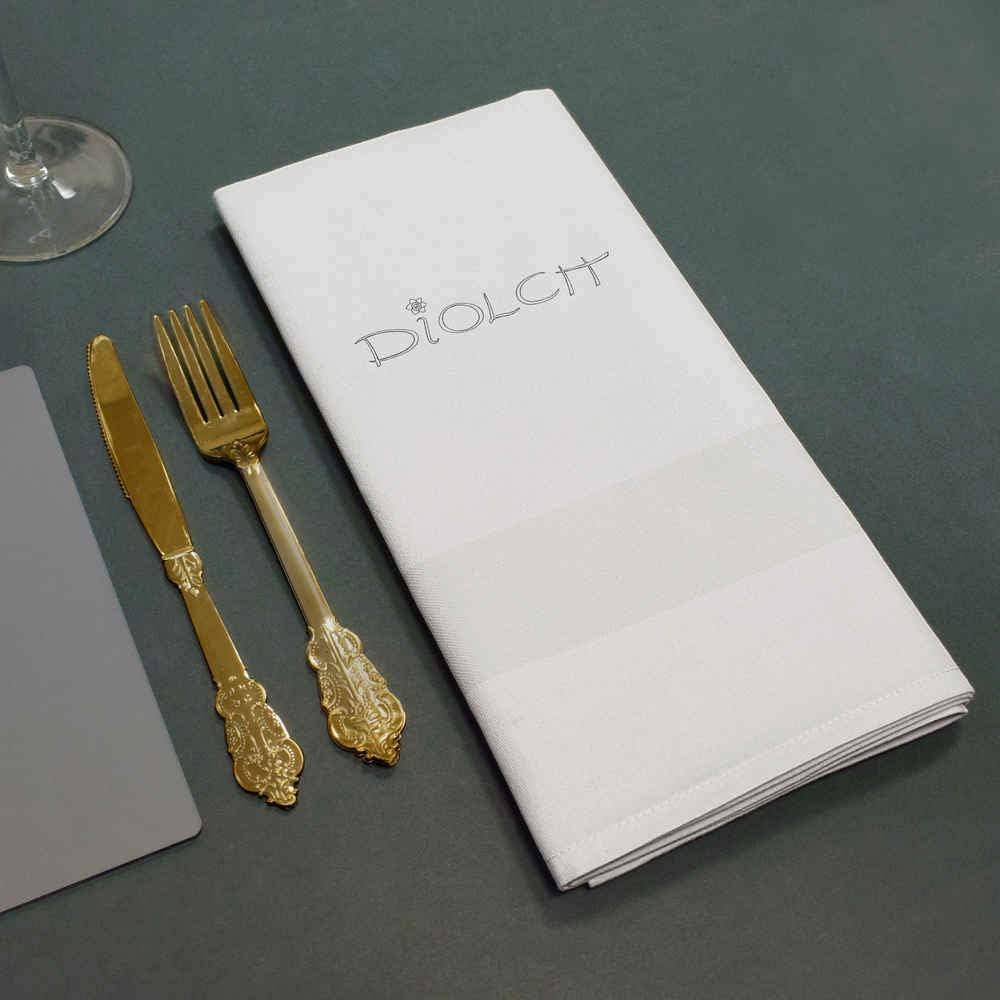 NK00002193 Azeeda Welsh Thanks Diolch Cotton Napkin Dinner Cloth