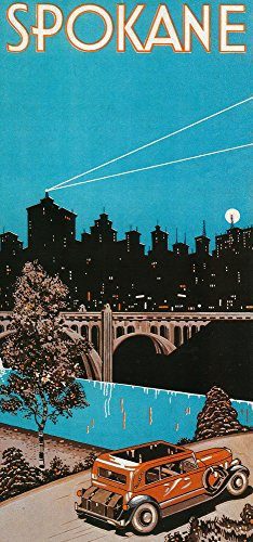 Spokane #1 - Vintage Travel Advertisement (12x18 Art Print, Wall Decor Travel Poster)