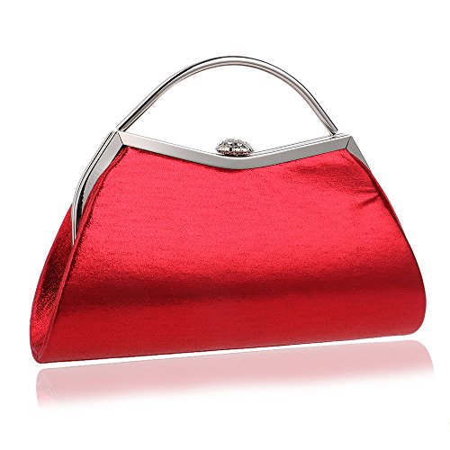 XFRJYKJ-Ladies' clutch Fashion Candy Color Mobile Bag Luxury Party Star Evening Clutch Nightclub Dinner Bag (Color : Red)