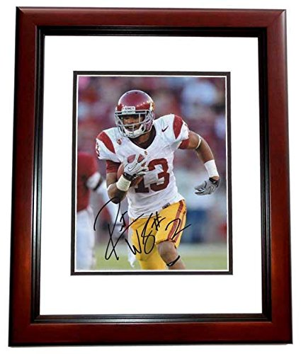 Signed Robert Woods Picture - USC Trojans 8x10 MAHOGANY CUSTOM FRAME - PSA/DNA Certified - Autographed College Photos (Usc Trojans Memorabilia)