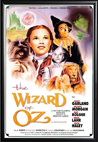 The Wizard of Oz Movie Poster International Version Framed (Black) Size 24x36
