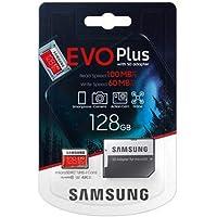 Samsung EVO Plus 128GB microSDXC UHS-I U3 100MB/s Full HD & 4K UHD Hafıza Kartı with Adapter (MB-MC128HA)
