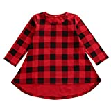 Bamboogrow Lovely Baby Kids Girl Dress Plaids Checked Party Princess Formal Dresses Tutu (3-4Years)