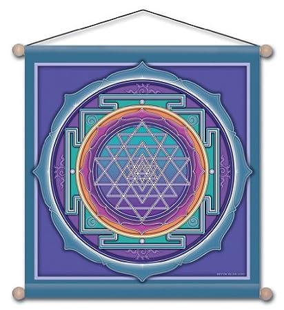 Amazon Com 15 X 15 Sri Yantra Mandala Meditation Banner Home