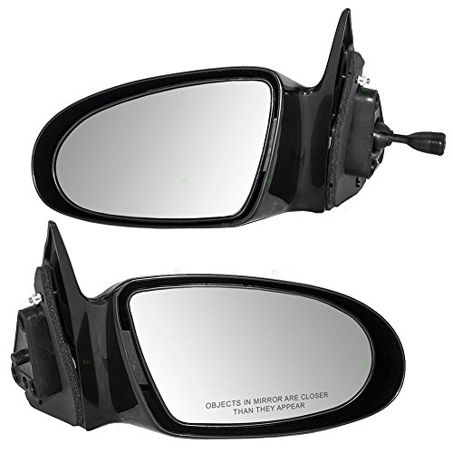 Pair Set Manual Side View Mirrors Replacement for Geo Prizm 94855360 94856319 AutoAndArt