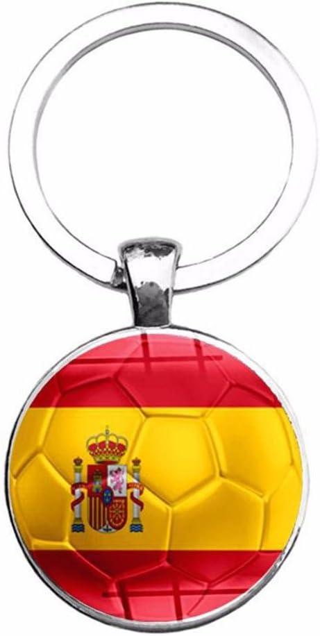ahomi Copa del Mundo Bandera del país Llaveros Aficionados al ...