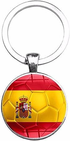ahomi Copa del Mundo Bandera del país Llaveros Aficionados al fútbol Llavero Recuerdo (España): Amazon.es: Hogar