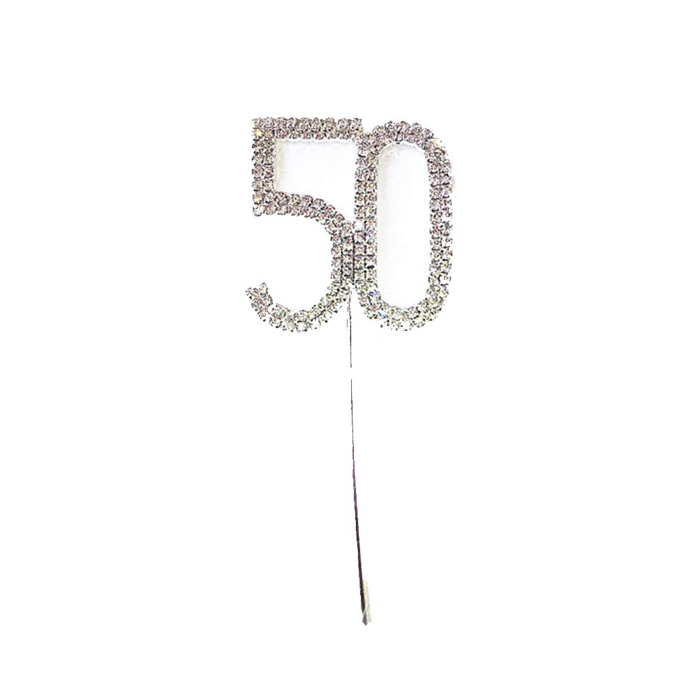 Potelin Cake Topper for 50th Anniversary/Birthday Party