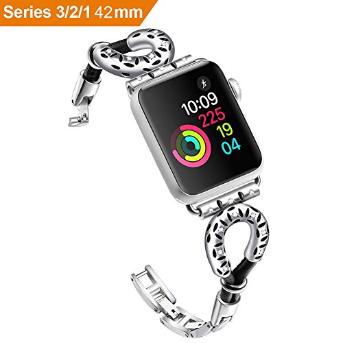 For Apple Watch Straps Sheepskin Rope Apple Watch Band,Braclet Wristband for Apple Watch iWatch 1/2/3 silver 42mm by Lisadream