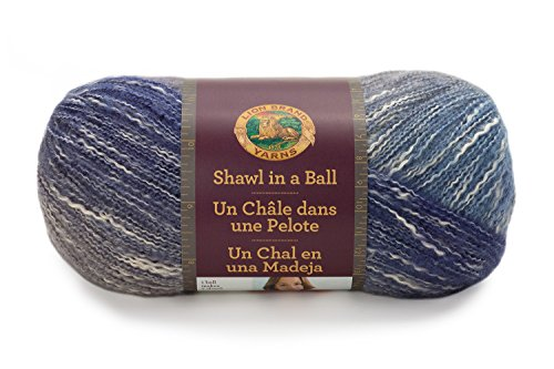 Lion Brand Yarn 828-205 Shawl in a Ball Yarn, One Size, Soothing Blue