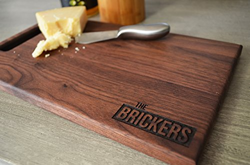 Personalized Engraved Wooden Cutting Board With Engraved Last Name Choose from Walnut, Maple Or Cherry