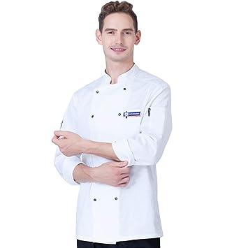 Doble Botonadura Chaqueta de Cocinero Abrigo de Manga Larga ...