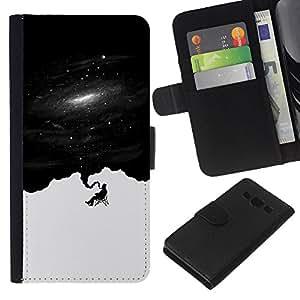 Stuss Case / Funda Carcasa PU de Cuero - Pensamientos Deep Space - Samsung Galaxy A3