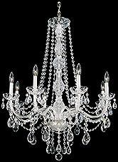 Schonbek 1305-40H Swarovski Lighting Arlington Chandelier, Silver