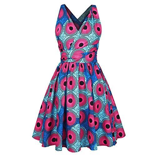 Mode Africano 2 La Mehrfarbig Vestido De Cóctel Étnico Vendimia Cortos Desgaste Fiesta Mujer Noche Vestidos Marca Estilo Playa 0wxUqAxd