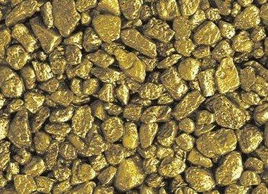 Quartz Colored Pebbles Gravel  Gold Metallic, 25 lbs.