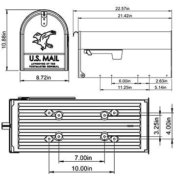Solar Group E1600W00 Large Premium Steel Rural Mailbox White