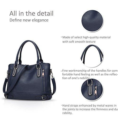 à Bag DORIS tout Messenger Cuir Sac Femmes main capacité Sac Bleu fourre à Sac NICOLE Marin amp; PU bandoulière Grande 5OqR8v