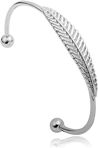 Metal Leaves Bracelets Retro Silver Bracelet Wire Bangles for Women Fashion Luxury Jewelry Collection