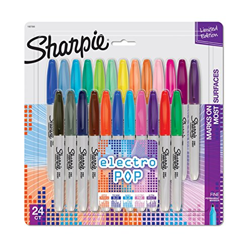 SHARPIE Electro Pop Permanent Markers, Fine Point, Assorted...