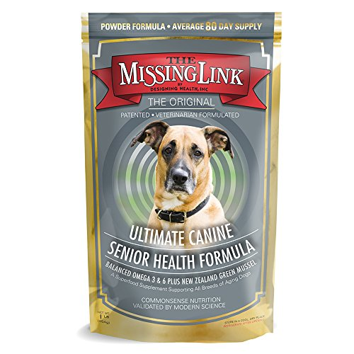 The Missing Link Original All Natural Omega & Superfood Dog Supplement - Senior Health - 1lb - Canine Plus Senior Vitamin