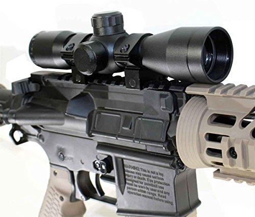Spyder Paintball Gun Upgrades - Trinity 4x32 Compact Rifle Scope w/ Ring Mounts Fits Tippmann TMC Upgrades.