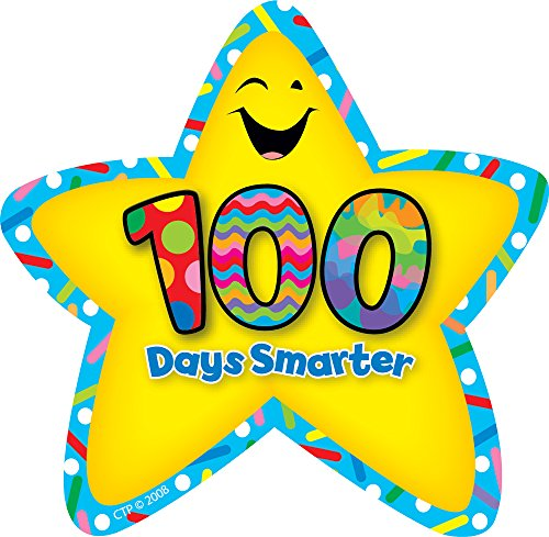 Creative Teaching Press 100 Days Smarter Star Badges (5894)