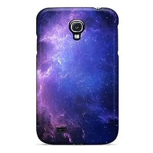 New HoXjN6949FAjBr Purple Blue Gas Clouds Tpu Cover Case For Galaxy S4