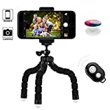 KenCa iPhone Tripod with Phone Grip and Bluetooth Remote Control Camera Shutter, Suitable for Most Smartphones,Camera or Webcam