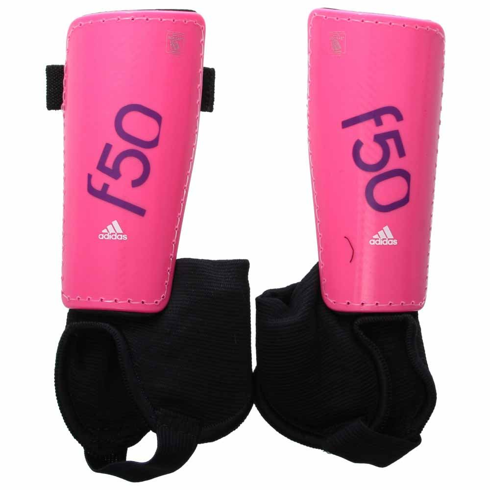 adidas Performance F50 Youth Shin Guards, Solar Pink/Lucky Pink, Medium