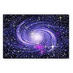 Startonight Canvas Wall Art Amzing Blue Galaxy Universe Abstract , Dual View Surprise Artwork Modern Framed Ready to Hang Wall Art 100% Original Art Painting 23.62 X 35.43 inch
