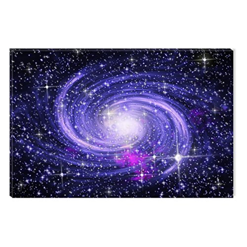Startonight Canvas Wall Art Amzing Blue Galaxy Universe Abstract , Dual