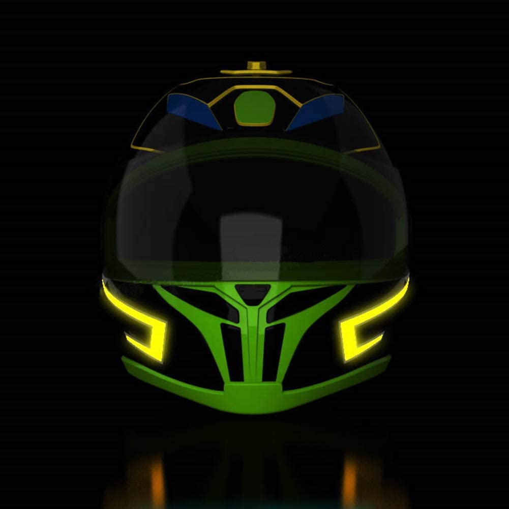 ESA Supplies Helmet Light Sticker Motorcycle Helmet Lighting Kit Helmet Stickers Blue