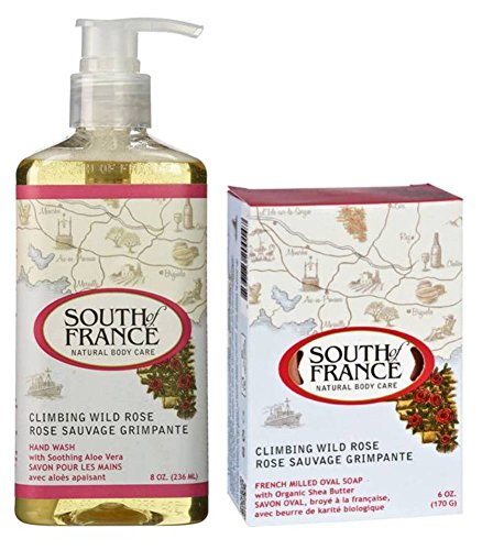 South Of France Natural Body Care Climbing Wild Rose Hand Wash Bar Soap Bundle, 1 Each