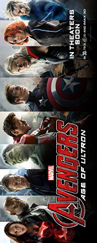 Avengers: Age of Ultron (2015) Movie Poster 12 x 30