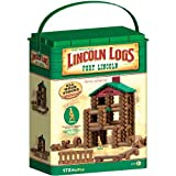 Lincoln Logs Fort Building Set, Brown, Green