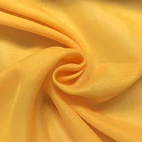 Sheer Voile Fabric 118 Wide Window Curtain Drapery and Apparel per Yard 100 Polyester 10 Yard, Sunflower