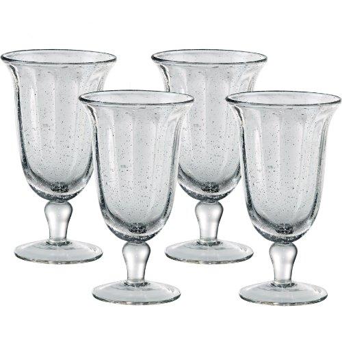 Artland Savannah Clear Bubble Glass Goblet, Set of 4 -  51505B