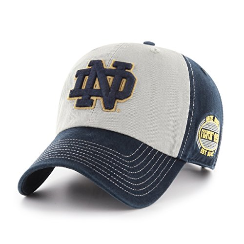 NCAA Notre Dame Fighting Irish Adult NCAA Tuscon Ots Challenger Adjustable Hat, One Size, - Soccer Ball Notre Dame Irish
