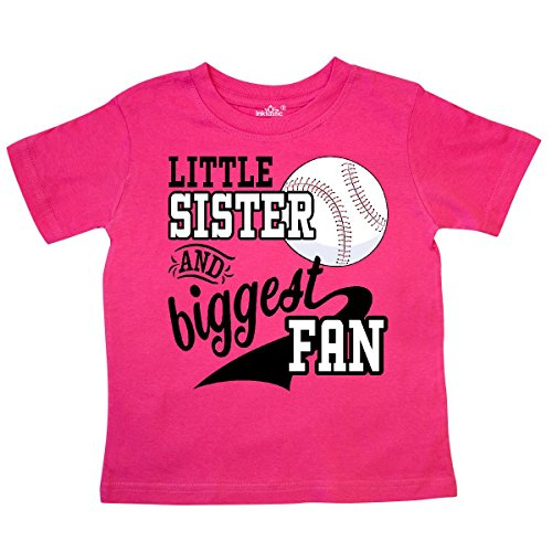 inktastic - Little Sister and Biggest Fan- Toddler T-Shirt 2T Hot Pink 2a7dd