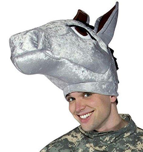Army Mascot Costume (Mule Hat Democrat Donkey Head Piece Military Mascot Adult Army)