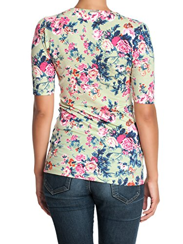 Vive Maria Bloomy Day Shirt Green Allover - Camiseta Mujer Mehrfarbig (grün allover)