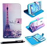 Mybase-elegant Fashion Style and Deluxe Book Style Folio Stand Pu Leather Wallet with Magnet Design Flip Case Cover, Credit Card Holder for Samsung Galaxy S4 I9500