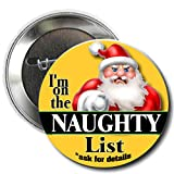 Santa's Naughty List Gift Set: Lump of Coal in Gift Bag & Naughty List Button