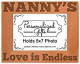 Cheap ThisWear Nanny's Love is Endless Natural Wood Engraved 5×7 Landscape Picture Frame Wood